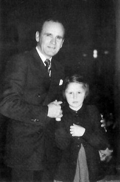 William Branham with eleven year old Veera Ihalainen just after her crilled legs were healed in Finland 1950